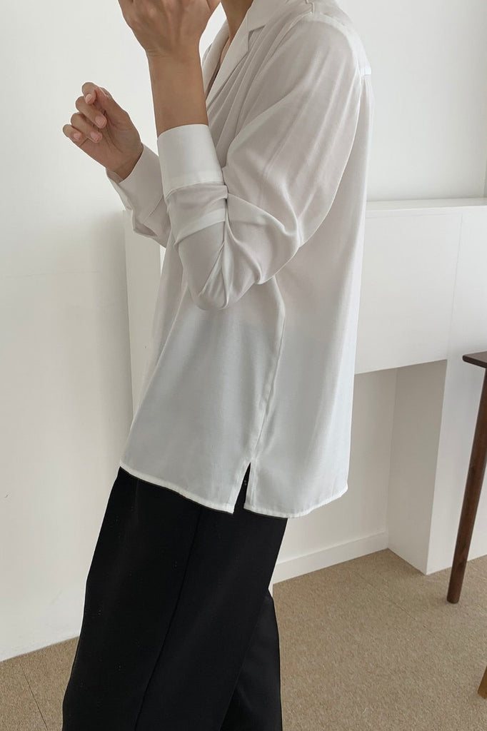 Silky Collar Blouse