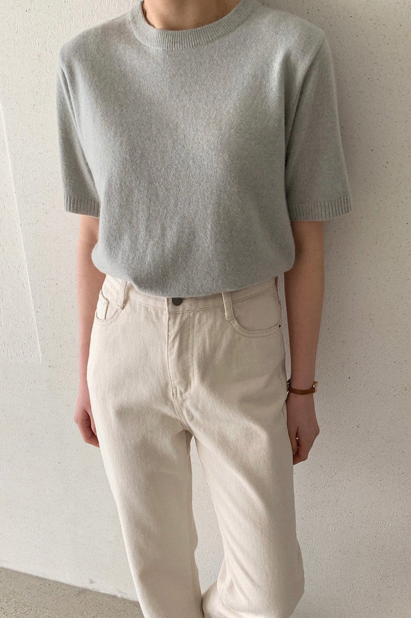 Stand Cashmere Knit