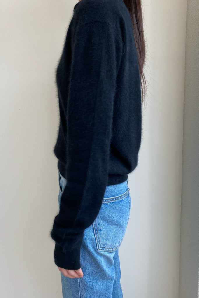 Raccoon Open Collar Knit