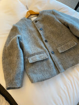 Mohair Round Neck Jacket