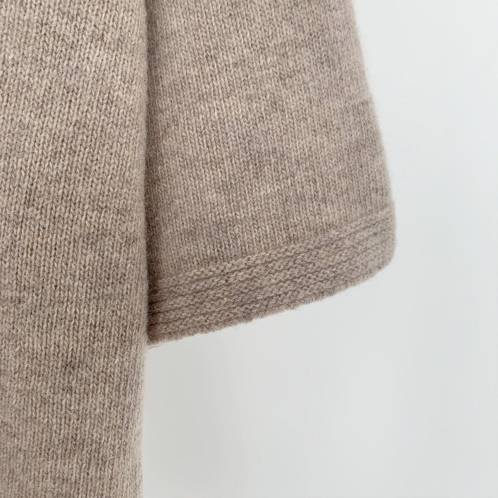 Wool Cashmere Short Turtleneck