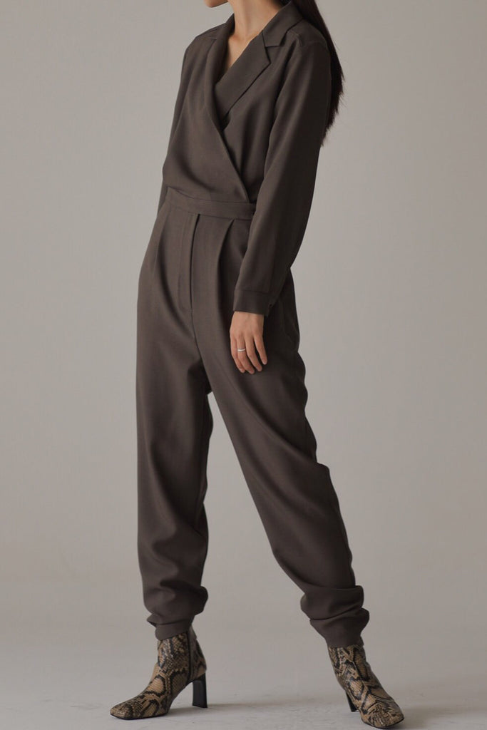 Overlap French Jumpsuit