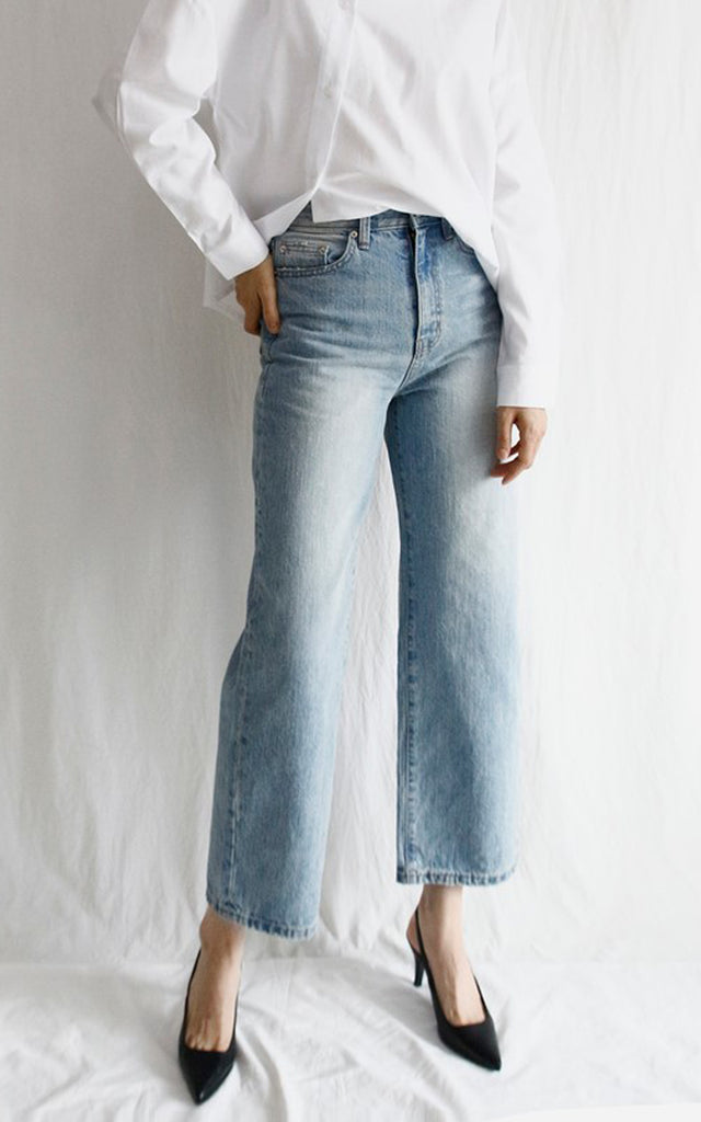 Crop Wide Fit Denim