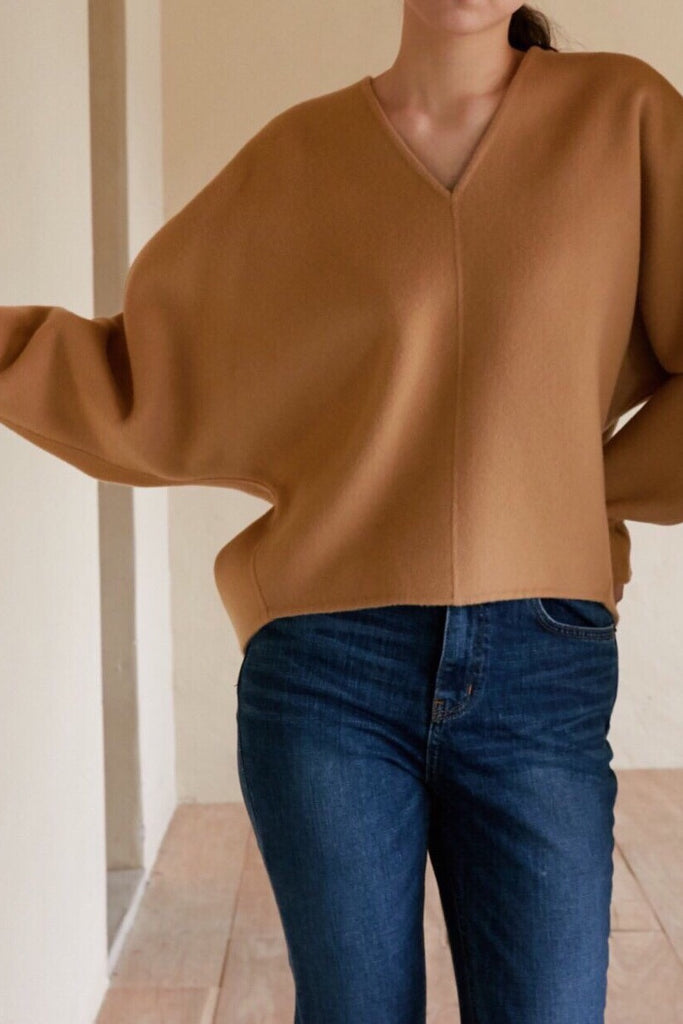 Handmade Cashmere Volume Top
