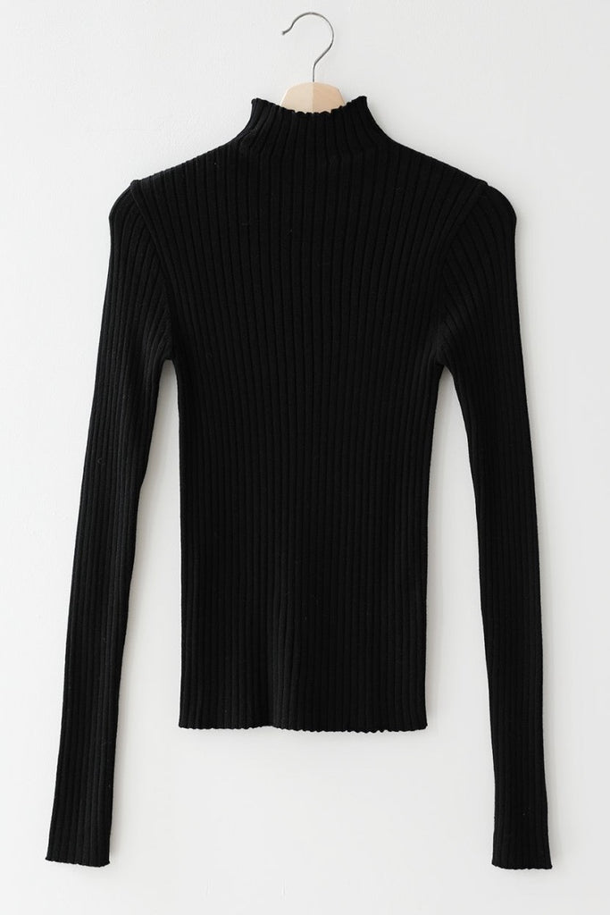 Fitted Rib Turtleneck