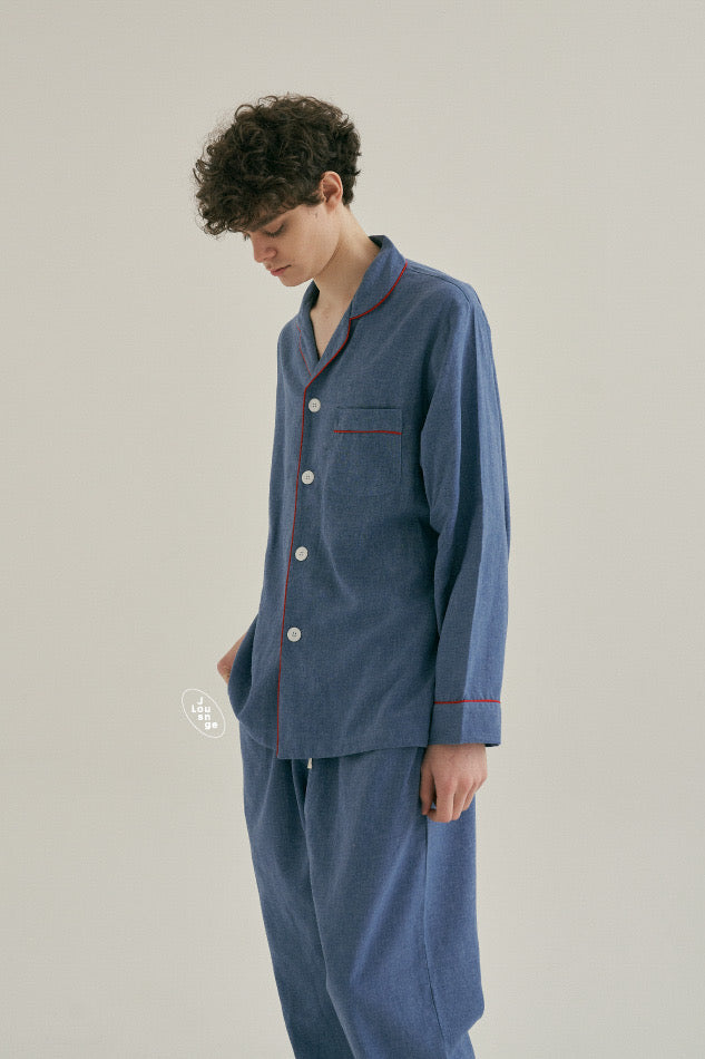 French Blue Pajama Set (His)