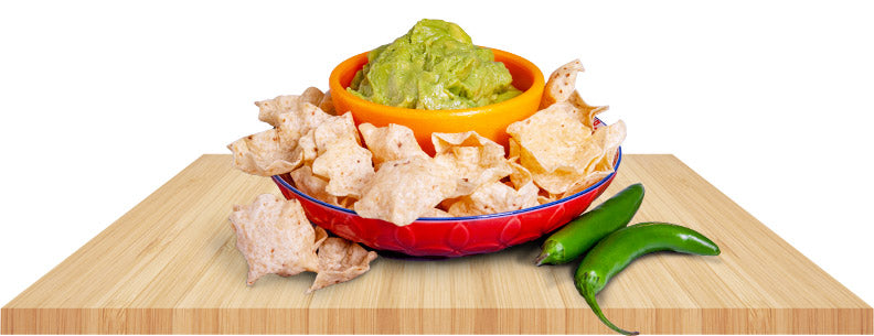 avocado pulp products on table