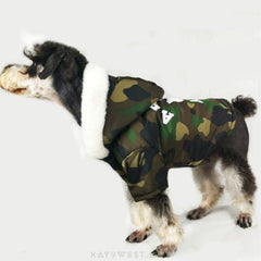 A Bathing Pup Reversible Shark Camo Jacket Pet Apparel