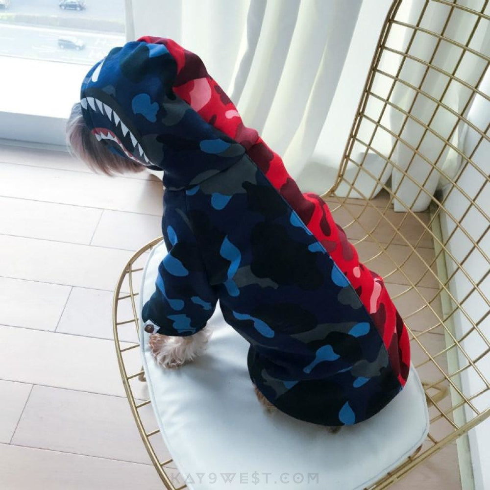 A Bathing Pup Shark Hoodie Pet Apparel