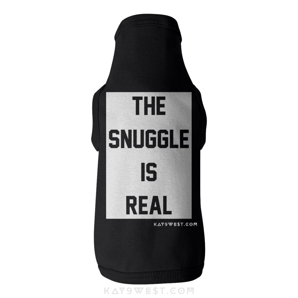Dogtona The Snuggle Is Real Tank Xs / Black Pet Apparel