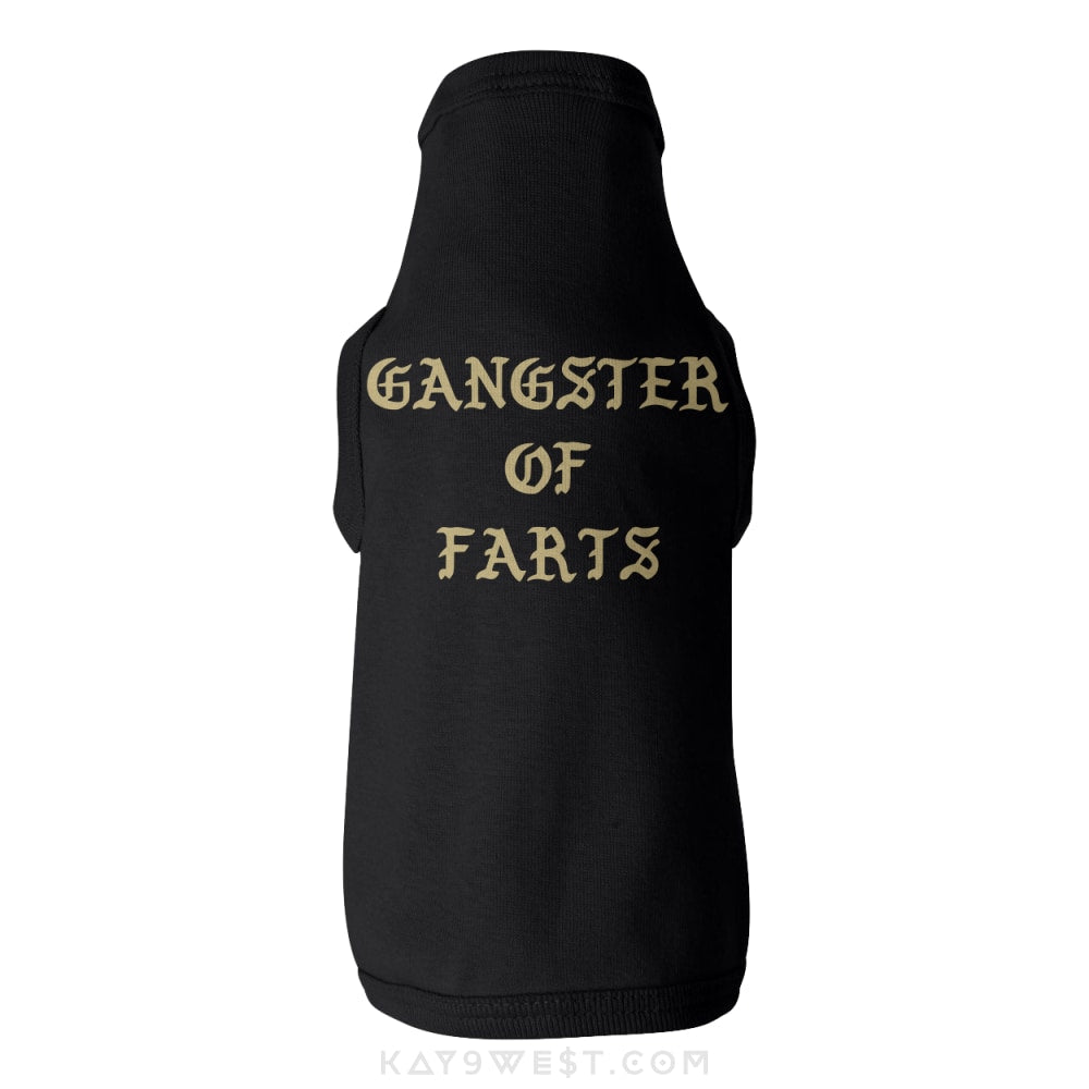 Pawfect Gangster Of Farts Tank Xs / Black Pet Apparel