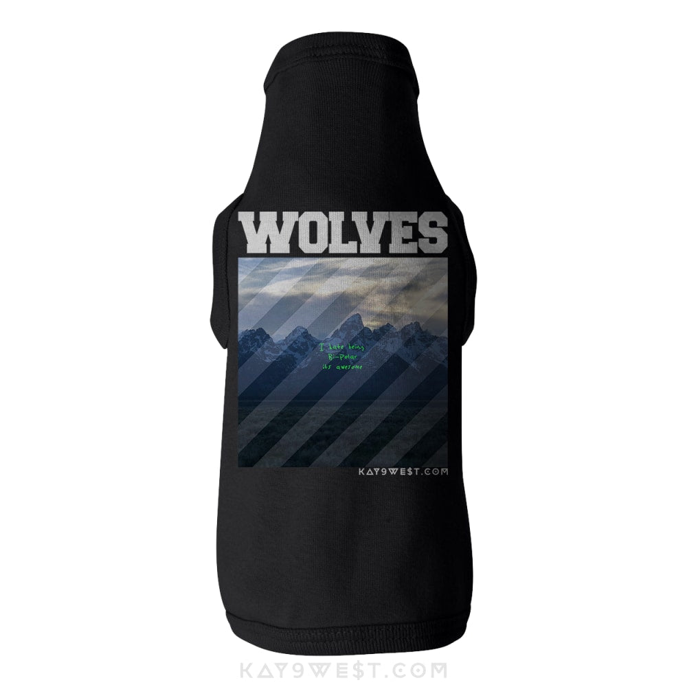 Wolves Bi-Pawlar Mashup Tank Pet Apparel