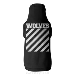 Wolves Logo Tank Xs / Black Pet Apparel
