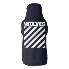 Wolves Logo Tank Xs / Navy Pet Apparel