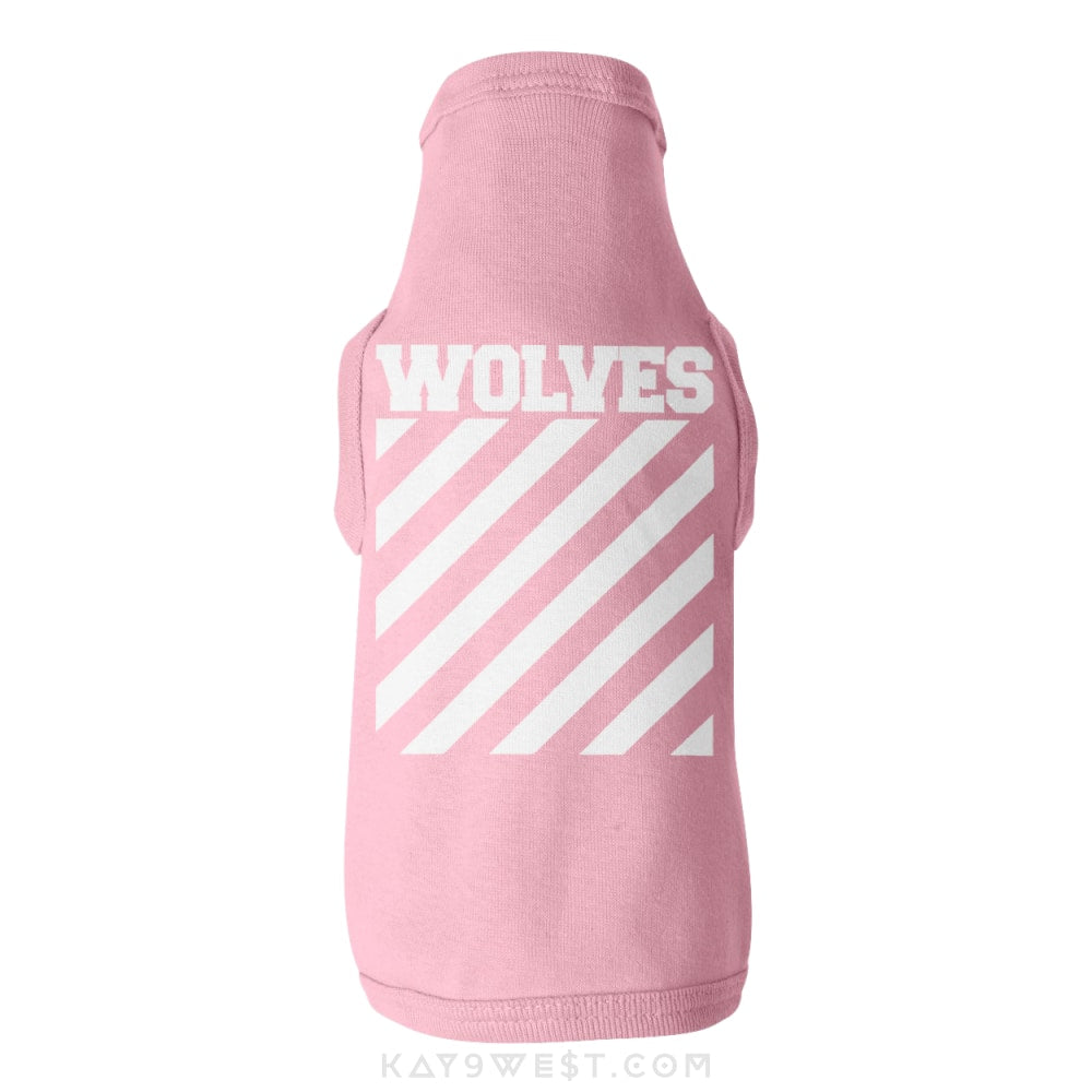 Wolves Logo Tank Xs / Pink Pet Apparel