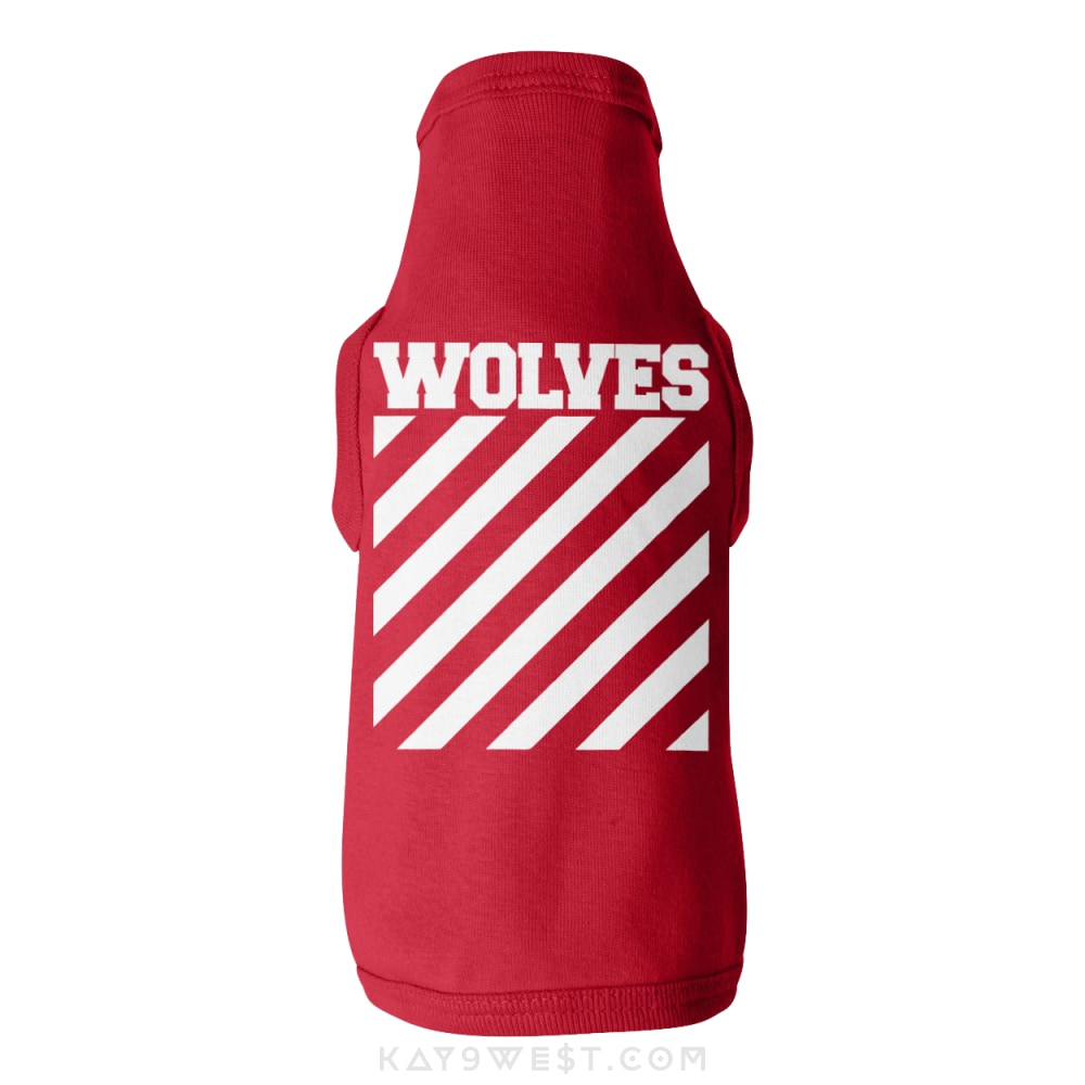 Wolves Logo Tank Xs / Red Pet Apparel