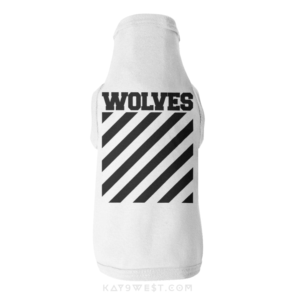 Wolves Logo Tank Xs / White Pet Apparel
