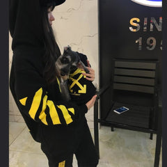 Wolves Yellow Stripe Hoodie Pet Apparel