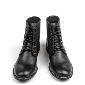 2a6bf9fcb92023 Retro Men Lace up Leather Boots Motorcycle Boots Cowboy Boots ...