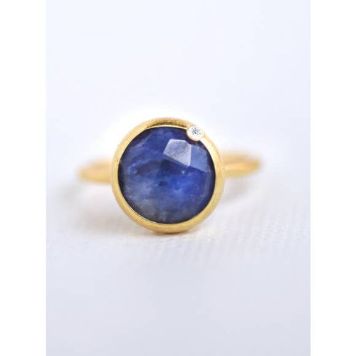Modern Chic - Sapphire Ring - 18k gold plated - Cause-ology