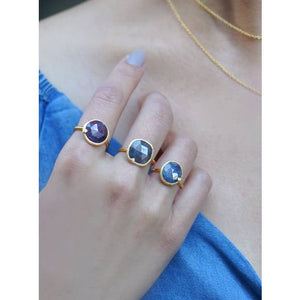 Modern Chic - Moonstone Ring - 18k gold plated - Cause-ology
