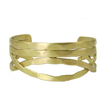Load image into Gallery viewer, Tribal Fresh Nest Cuff - Gold - Cause-ology