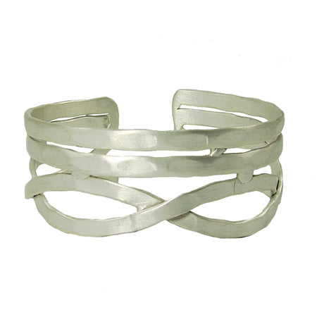 Tribal Fresh Nest Cuff - Silver - Cause-ology