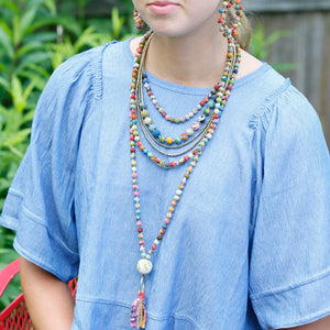 Kantha Tassel Necklace - Cause-ology