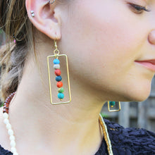 Load image into Gallery viewer, Kantha Framed Earrings - Cause-ology