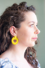Load image into Gallery viewer, Color Me Beautiful -  Alloy Hoops - Sunshine Yellow - Cause-ology