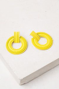 Color Me Beautiful -  Alloy Hoops - Sunshine Yellow - Cause-ology