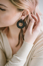 Load image into Gallery viewer, Alloy Hoops - Black - Cause-ology