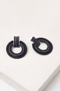 Color Me Beautiful -  Alloy Hoops - Black - Cause-ology