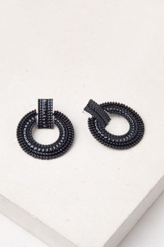 Alloy Hoops - Black - Cause-ology