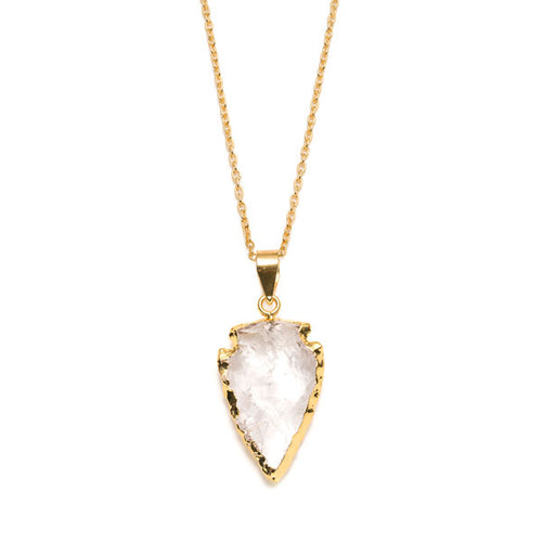 Modern Chic - Crystal Arrowhead Necklace - Cause-ology