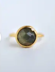 Modern Chic - Moonstone Ring - 18k gold plated