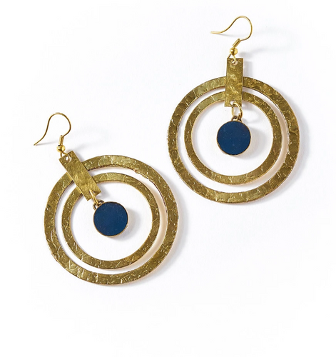 Cobalt Circle Earrings - Cause-ology