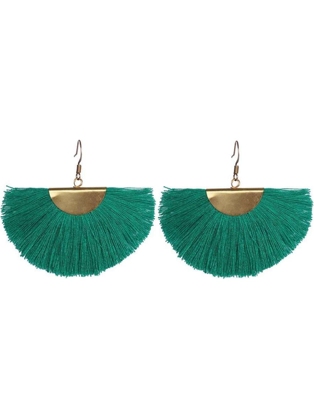 Color Me Beautiful -  Emerald Green Fringe Earrings - Cause-ology