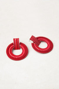 Color Me Beautiful -  Alloy Hoops - Red - Cause-ology