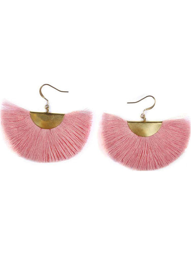 Color Me Beautiful -  Rose Fringe Earrings - Cause-ology
