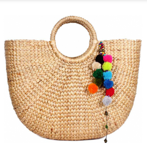 Summer Straw -  Hyacinth Shopper / Vacation Bag - Cause-ology