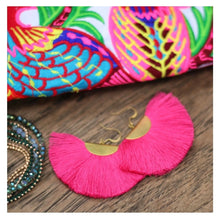 Load image into Gallery viewer, Color Me Beautiful -  Pink Fringe Earrings - Cause-ology