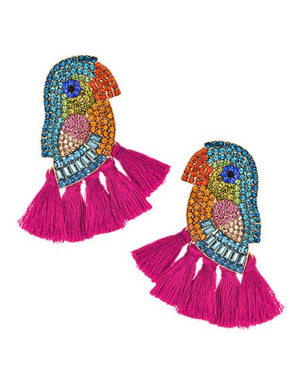 Parrot Paradise Swarovski Earrings - Cause-ology