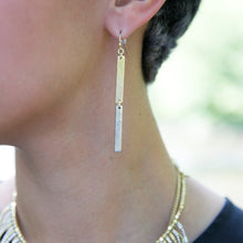 Load image into Gallery viewer, Double Linear Earrings - Gold/Silver - Cause-ology