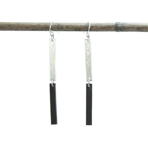 Double Linear Earrings - Silver - Cause-ology