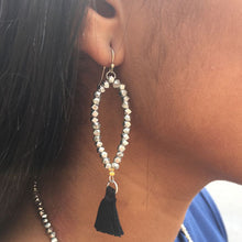Load image into Gallery viewer, Dewdrop Tassel Earrings - Silver - Cause-ology