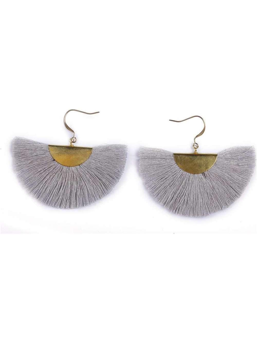 Grey Fringe Earrings - Cause-ology