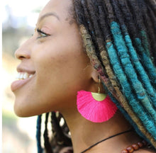 Load image into Gallery viewer, Pink Fringe Earrings - Cause-ology