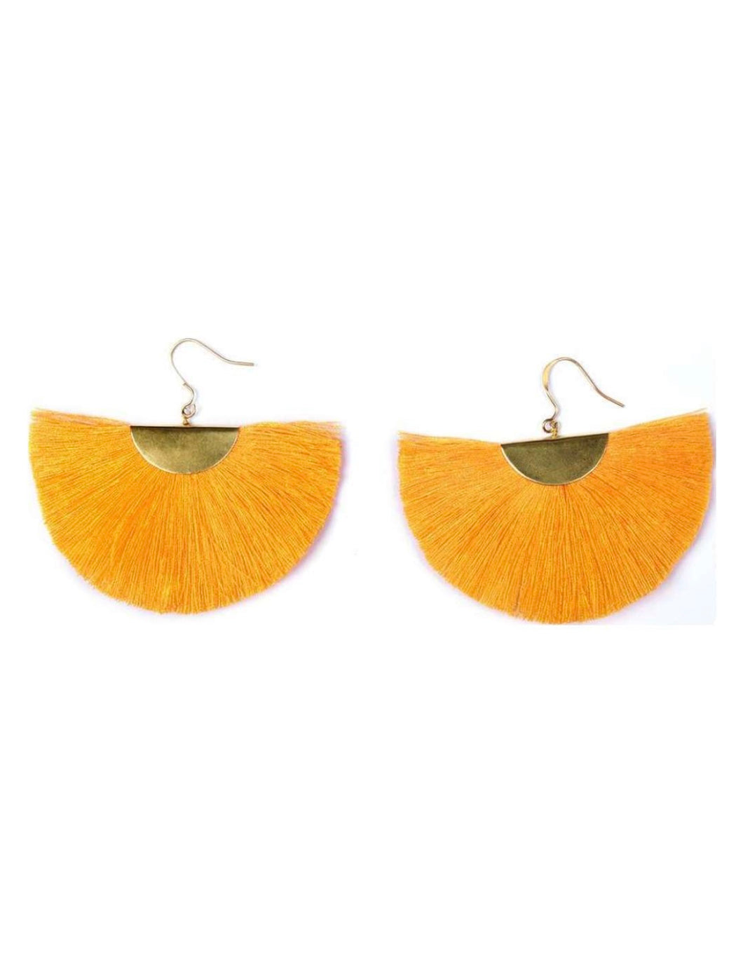 Color Me Beautiful -  Sunshine Yellow Fringe Earrings - Cause-ology