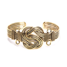 Load image into Gallery viewer, Tribal Fresh - Infinity Knot - Gold Cuff Bracelet - Cause-ology